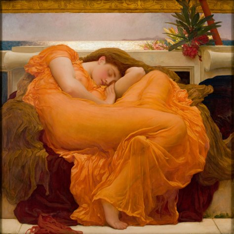 Flaming_June,_by_Frederic_Lord_Leighton_(1830-1896) Flaming June, by Frederic Lord Leighton English Painting Art 1895.
