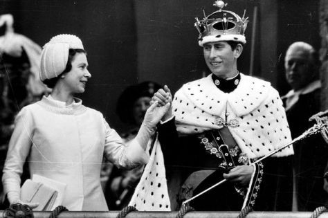 Prince Charles investiture with his mother, Queen Elizabeth ll. 3rd July 1969