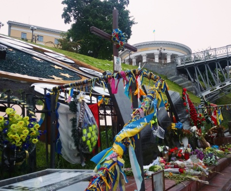Kyiv Ukraine Euromaidan Memorials Sonya Heaney May 2016