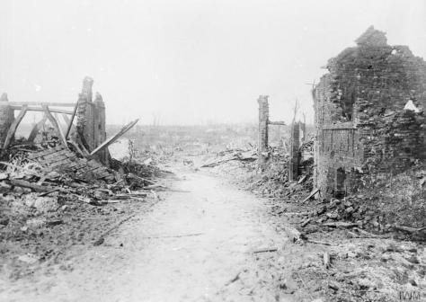 Operations_on_the_Ancre,_January-march_1917_Q1807Ruins in the village of Puisieux, which the British entered on 28th February 1917. First World War. World War One. By War Photographer Er