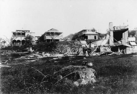 StateLibQld_2_182511_Destruction_of_the_Townsville_Hospital's_Harvey_Ward_caused_by_Cyclone_'Leonta',_1903Cyclone Leonta was a tropical cyclone that caused severe damage in North Queensl
