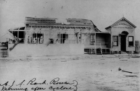 StateLibQld_2_85280_Australian_Joint_Stock_Bank_at_Bowen_after_the_1903_cycloneCyclone Leonta was a tropical cyclone that caused severe damage in North Queensland on 9 March 1903. It las