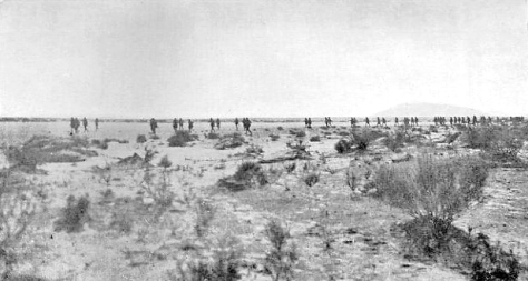 9th_Light_Horse_Regiment_MagdhabaThe advance of the Australian 9th Light Horse Regiment (3rd Light Horse Brigade) at Battle of Magdhaba, 23 December 1916. First World War One