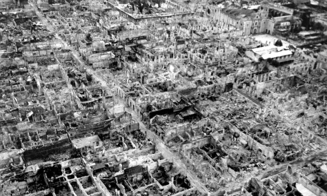 Manila_Walled_City_Destruction_May_1945 Destruction at the Walled City (Intramuros district) of old Manila in May 1945 — after the Battle of Manila.