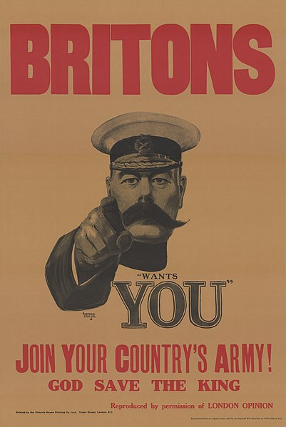 Herbert Kitchener, 1st Earl Kitchener - the famous Lord Kitchener of the World War One recruitment poster. British.