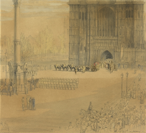 Nurse Cavell at Westminster Abbey - After the Armistice her body was brought in state at Westminster Abbey, 15th May 1919.