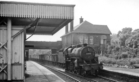 Newlay & Horsforth stat View westward, towards Shipley, Bradford, Skipton etc. The line has since been electrified, but Newlay & Horsforth station was closed on 22-3-65. 26th June 1964
