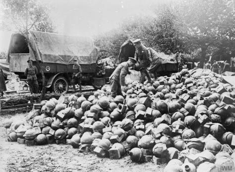 The_Battle_of_the_Somme,_July-november_1916_Q749 The Battle of the Somme Trench mortar ammunition behind the lines. Acheux, 28th June 1916.