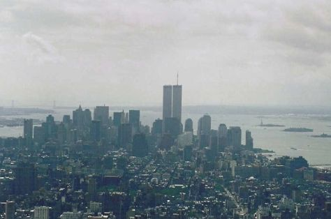A view of the New York City skyline, as seen from the Empire State Building on September 10, 2001. terror attacks islamic extremism david officer
