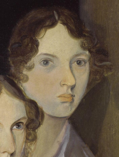 Emily_Brontë_by_Patrick_Branwell_Brontë_restored Emily Brontë, as painted by her brother Patrick Branwell Brontë (died 1848), from a portrait with her sisters.