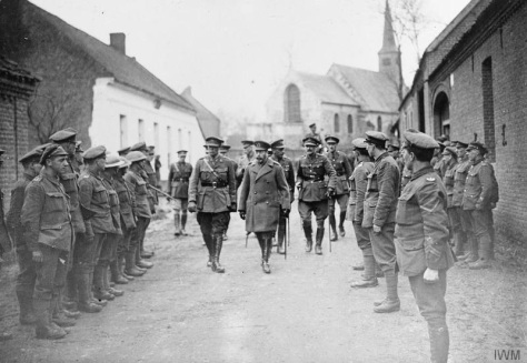 German_Spring_Offensive_Q294 King George V escorted by Lieutenant Colonel Reginald B