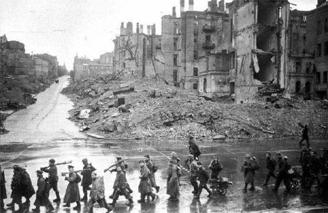 Kiev_Kreschatik_after_liberation_November_1943 Khreshchatyk Kyiv Ukraine Second World War Two