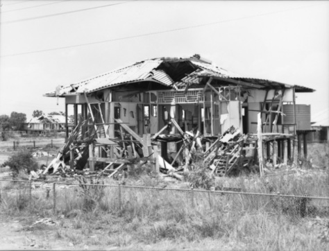 Remains of a house at Myilly Point in Darwin damaged in a Japaneses Air Raid. 8th October 1942 Northern Territory Australia Second World War Two