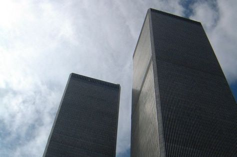 The Twin Towers of New York's World Trade Centre, photographed on September 10, 2001. terror attack islamic extremism peter howard