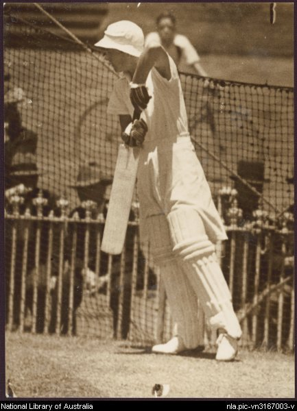 Betty_SnowballA picture of cricketer Betty Snowball on the England tour of Australia in 1934-35. Taken from the National Library of Australia. Canberra.