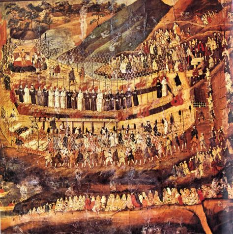 ChristianMartyrsOfNagasakiThe Christian martyrs of Nagasaki. 16-17th-century Japanese painting. Japan Art
