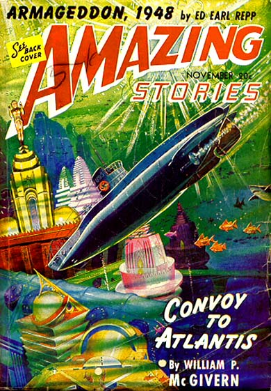 Cover of Amazing Stories, November 1941 Ed Earl Repp