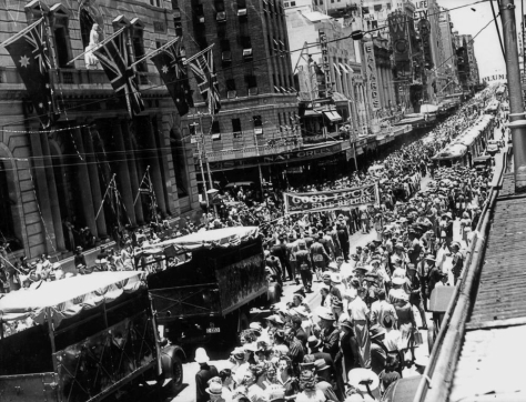 Crowds_gather_to_watch_the_Air_Force_Parade_in_Queen_Street_Brisbane,_Australia December_1940_(14148815259)8 December 1940 Second World War Two