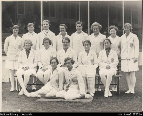 England_womens_cricket_team_in_1934-35A picture of the England womens cricket team in 1934-35. Taken from the National Library of Australia. Canberra.
