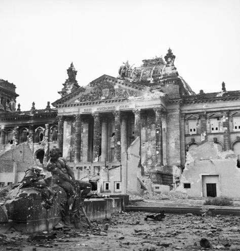 Ruins_of_the_Reichstag_in_Berlin,_3_June_1945__BU8573Ruins of the Reichstag in Berlin, Germany. 3rd June 1945. Second World War Two.
