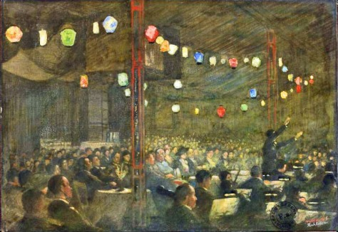 The_Gala_Performance_-_The_Mikado_at_the_Theatre_of_the_British_Civilian_Pow_Camp_Ruhleben_Germany_Art_IWMART6173 1916 First World War One