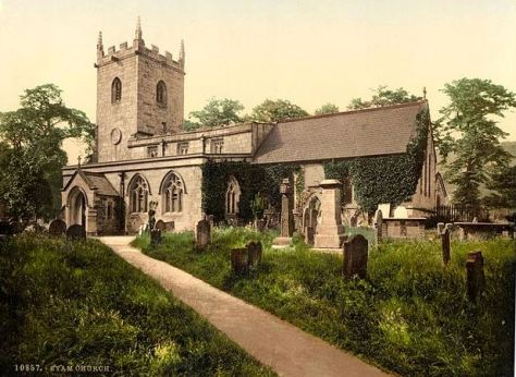 eyam_church_derbyshire_1890 england victorian britain