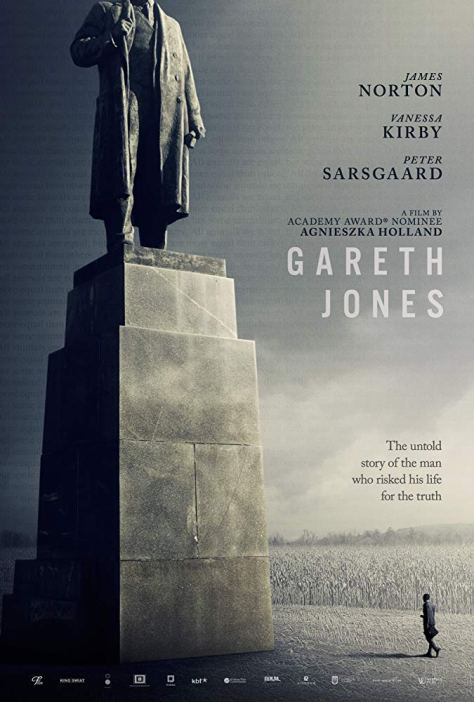 mr. jones is a 2019 drama film directed by agnieszka holland. soviet union ussr ukraine stalin's genocide holodomor in ukraine movie poster