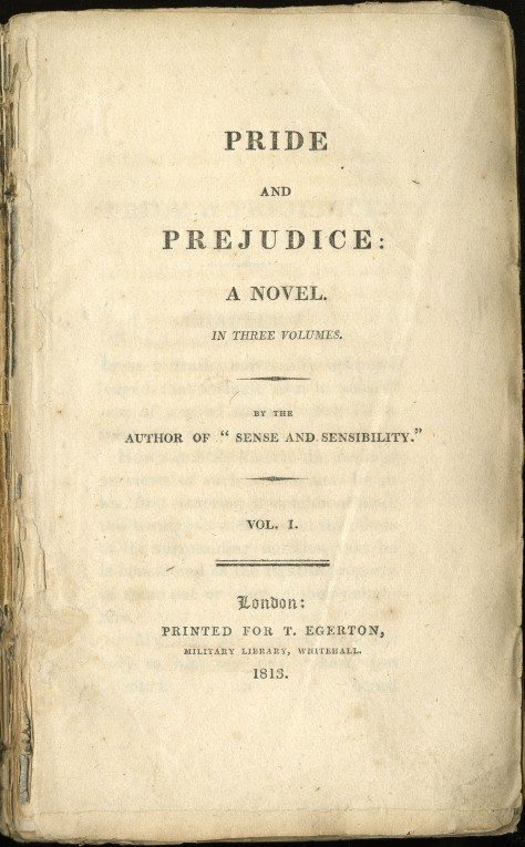 prideandprejudicetitlepagejane austen's classic pride and prejudice was first published on the 28th of january, 1813.
