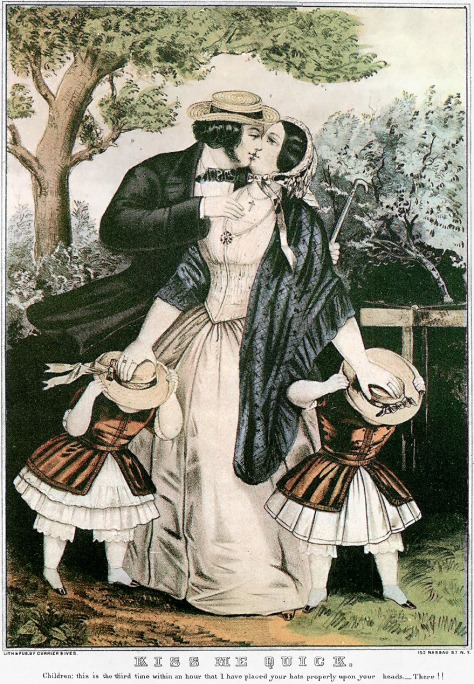 Kiss-me-quick-Currier-Ives-1840sKiss-me-quick-Currier-Ives-1840s or 1850s