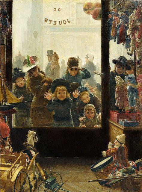 Lobrichon_La_vitrine_du_magasin_de_Jouets_img01Timoleon Marie Lobrichon Toy Shop Window French Painter Artist 1831 -1914