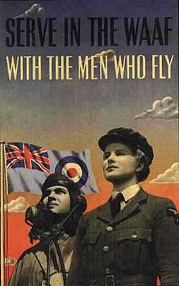 Waaf Australian Auxiliary Air Force REcruitment Poster Second World War Two 1940s