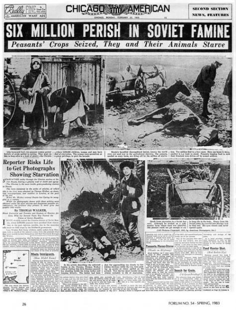 Holodomor Stalin's Genocide in Ukraine 1930s Communism