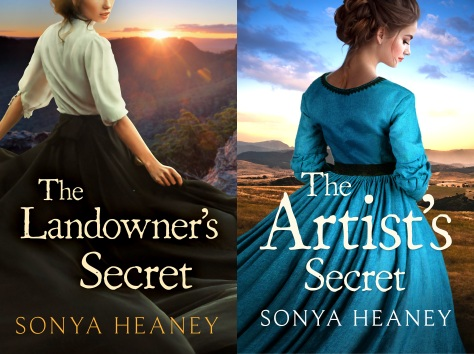 The Landowner's Secret and The Artist's Secret by Sonya Heaney Brindabella Secrets Series Covers